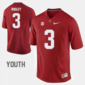 #3 Calvin Ridley Alabama Crimson Tide College Football Youth(Kids) Jersey - Red