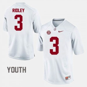 #3 Calvin Ridley Alabama Crimson Tide College Football For Kids Jersey - White