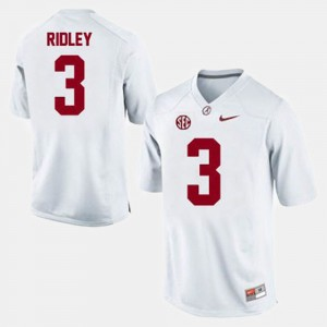 #3 Calvin Ridley Alabama Crimson Tide College Football For Men's Jersey - White