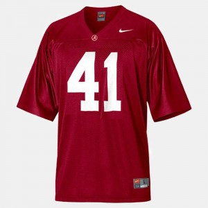 #41 Courtney Upshaw Alabama Crimson Tide College Football For Kids Jersey - Red