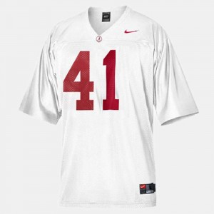 #41 Courtney Upshaw Alabama Crimson Tide Men College Football Jersey - White