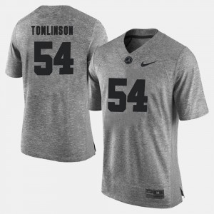 #54 Dalvin Tomlinson Alabama Crimson Tide For Men Gridiron Limited Gridiron Gray Limited Jersey - Gray