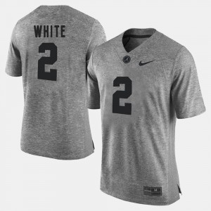 #2 DeAndrew White Alabama Crimson Tide Mens Gridiron Limited Gridiron Gray Limited Jersey - Gray