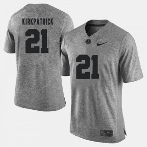 #21 Dre Kirkpatrick Alabama Crimson Tide Gridiron Gray Limited For Men's Gridiron Limited Jersey - Gray