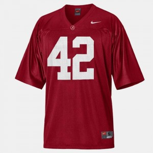 #42 Eddie Lacy Alabama Crimson Tide College Football Men Jersey - Red
