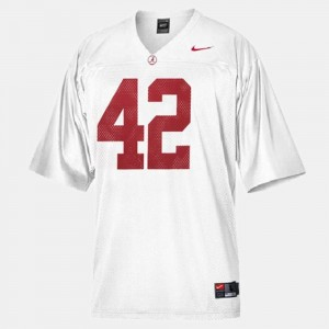 #42 Eddie Lacy Alabama Crimson Tide College Football Youth Jersey - White