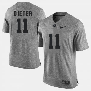 #11 Gehrig Dieter Alabama Crimson Tide Gridiron Gray Limited For Men's Gridiron Limited Jersey - Gray