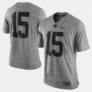 #15 Alabama Crimson Tide Gridiron Gray Limited Gridiron Limited For Men's Jersey - Gray