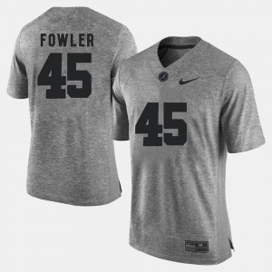 #45 Jalston Fowler Alabama Crimson Tide Gridiron Gray Limited For Men's Gridiron Limited Jersey - Gray