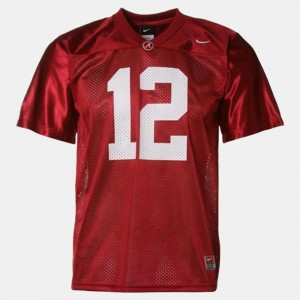 #12 Joe Namath Alabama Crimson Tide Mens College Football Jersey - Red