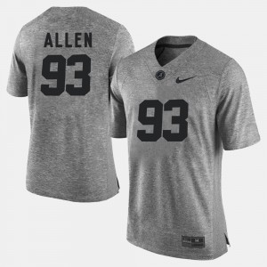 #93 Jonathan Allen Alabama Crimson Tide Gridiron Gray Limited Gridiron Limited Men Jersey - Gray
