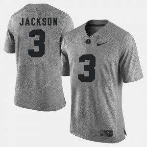 #3 Kareem Jackson Alabama Crimson Tide Gridiron Gray Limited Mens Gridiron Limited Jersey - Gray