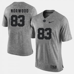 #83 Kevin Norwood Alabama Crimson Tide Gridiron Gray Limited Mens Gridiron Limited Jersey - Gray