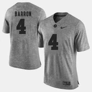 #4 Mark Barron Alabama Crimson Tide Gridiron Gray Limited Gridiron Limited Men Jersey - Gray