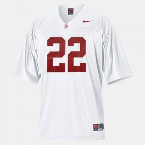 #22 Mark Ingram Alabama Crimson Tide College Football For Kids Jersey - White
