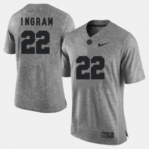 #22 Mark Ingram Alabama Crimson Tide Gridiron Gray Limited Men Gridiron Limited Jersey - Gray