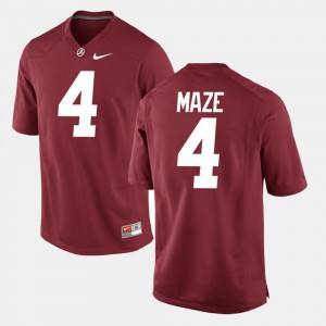 #4 Marquis Maze Alabama Crimson Tide Mens Alumni Football Game Jersey - Crimson