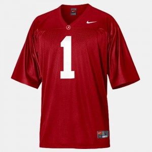 #1 Nick Saban Alabama Crimson Tide Men College Football Jersey - Red