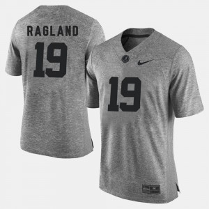#19 Reggie Ragland Alabama Crimson Tide Gridiron Gray Limited Gridiron Limited Men's Jersey - Gray