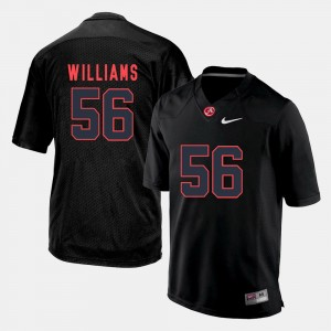 #56 Tim Williams Alabama Crimson Tide Mens Silhouette College Jersey - Black