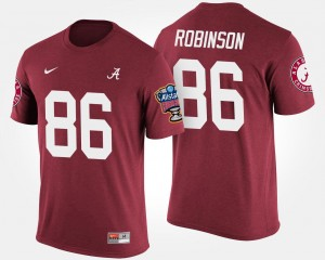 #86 A'Shawn Robinson Alabama Crimson Tide Bowl Game Sugar Bowl For Men's T-Shirt - Crimson