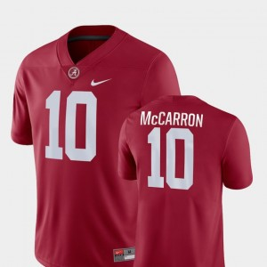 #10 AJ McCarron Alabama Crimson Tide Game For Men's College Football Jersey - Crimson