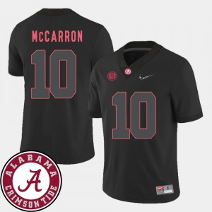 #10 AJ McCarron Alabama Crimson Tide College Football 2018 SEC Patch For Men's Jersey - Black