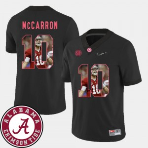 #10 AJ McCarron Alabama Crimson Tide Pictorial Fashion Football Men Jersey - Black