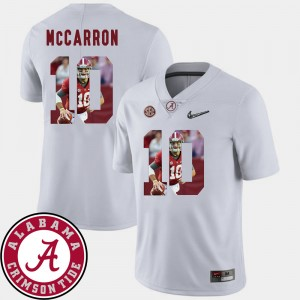 #10 AJ McCarron Alabama Crimson Tide For Men Pictorial Fashion Football Jersey - White