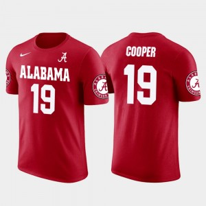 #19 Amari Cooper Alabama Crimson Tide Future Stars For Men Dallas Cowboys Football T-Shirt - Red