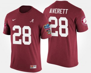 #28 Anthony Averett Alabama Crimson Tide Men's Sugar Bowl Bowl Game T-Shirt - Crimson