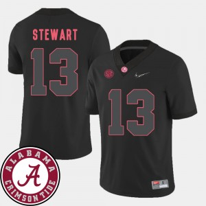 #13 ArDarius Stewart Alabama Crimson Tide For Men 2018 SEC Patch College Football Jersey - Black