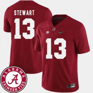 #13 ArDarius Stewart Alabama Crimson Tide Men College Football 2018 SEC Patch Jersey - Crimson