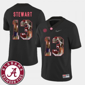 #13 ArDarius Stewart Alabama Crimson Tide For Men's Pictorial Fashion Football Jersey - Black