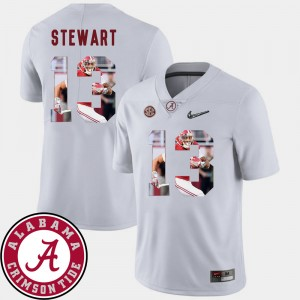 #13 ArDarius Stewart Alabama Crimson Tide Football Pictorial Fashion Men's Jersey - White