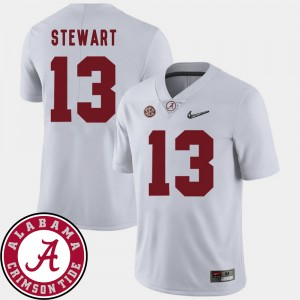#13 ArDarius Stewart Alabama Crimson Tide 2018 SEC Patch College Football For Men's Jersey - White