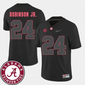 #24 Brian Robinson Jr. Alabama Crimson Tide 2018 SEC Patch College Football For Men's Jersey - Black