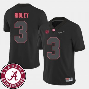 #3 Calvin Ridley Alabama Crimson Tide Men College Football 2018 SEC Patch Jersey - Black