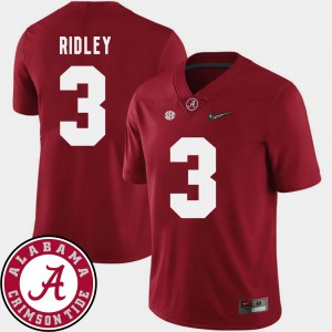 #3 Calvin Ridley Alabama Crimson Tide College Football Mens 2018 SEC Patch Jersey - Crimson