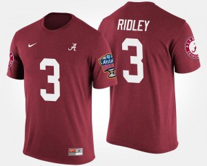 #3 Calvin Ridley Alabama Crimson Tide Bowl Game Sugar Bowl Men's T-Shirt - Crimson
