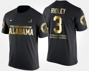#3 Calvin Ridley Alabama Crimson Tide Mens Gold Limited Short Sleeve With Message T-Shirt - Black