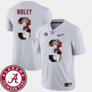 #3 Calvin Ridley Alabama Crimson Tide Pictorial Fashion Football For Men's Jersey - White