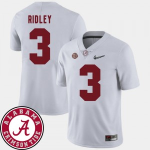 #3 Calvin Ridley Alabama Crimson Tide Men's College Football 2018 SEC Patch Jersey - White