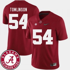 #54 Dalvin Tomlinson Alabama Crimson Tide Men's 2018 SEC Patch College Football Jersey - Crimson