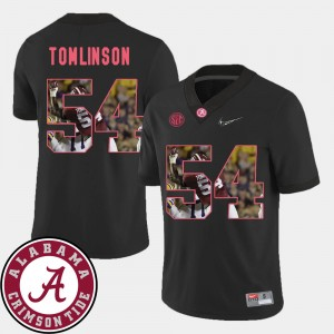 #54 Dalvin Tomlinson Alabama Crimson Tide Pictorial Fashion Football For Men's Jersey - Black