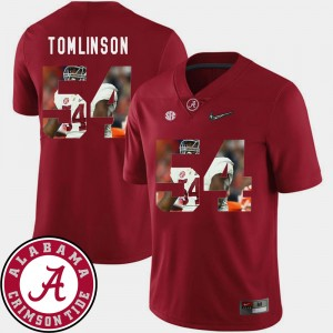 #54 Dalvin Tomlinson Alabama Crimson Tide Football Pictorial Fashion For Men Jersey - Crimson