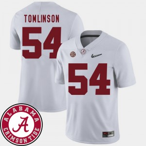 #54 Dalvin Tomlinson Alabama Crimson Tide College Football For Men's 2018 SEC Patch Jersey - White