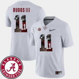 #11 Henry Ruggs III Alabama Crimson Tide Football Pictorial Fashion Mens Jersey - White