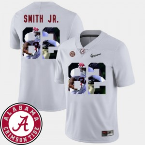 #82 Irv Smith Jr. Alabama Crimson Tide Football Pictorial Fashion Mens Jersey - White