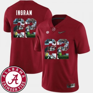 #22 Mark Ingram Alabama Crimson Tide Men Pictorial Fashion Football Jersey - Crimson